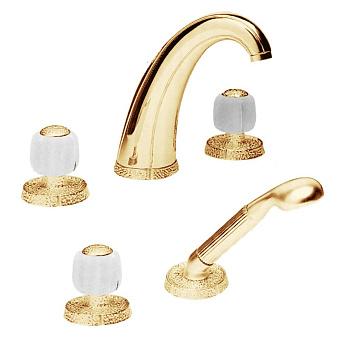 Cristal et Bronze Millesime Смеситель для ванны, цвет золото 24 к./сатинированное стекло