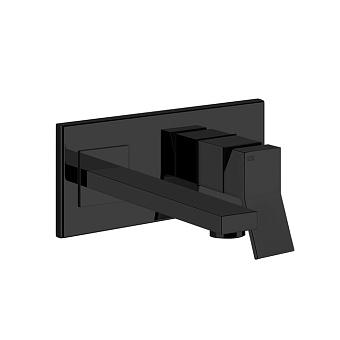 Gessi Rettangolo K Смеситель для раковины, встраиваемый, однорычажный, излив 201мм, цвет: Black XL