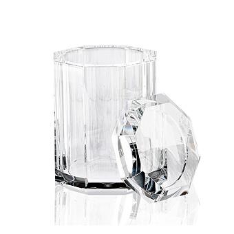 Decor Walther Kristall BMD Баночка универсальная 9x9x14см, с крышкой, хрустальное стекло, цвет: кристальный