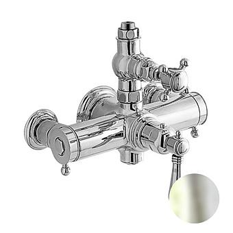 Nicolazzi Termostatico Термостатический смеситель, вывод сверху 3/4, цвет: никель блестящий