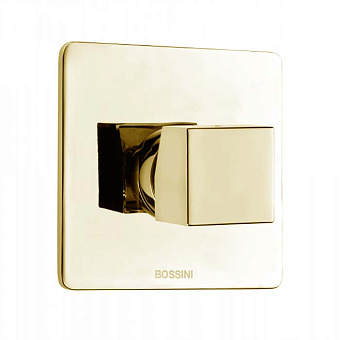 Bossini Cube Смеситель для душа на 1 выход, цвет: золото