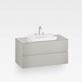Armani Roca Baia Тумба подвесная с раковиной, 100х59х61см с 2 ящиками, со столешницей, цвет: silver