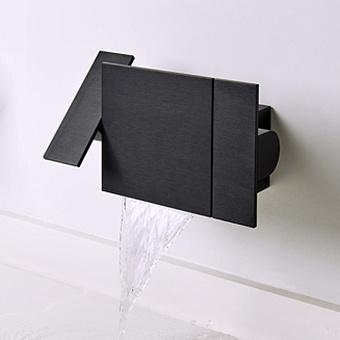 Agape Sen Встроенный смеситель для раковины без излива, цвет: черный