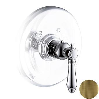 """Nicolazzi Termostatico термостатический смеситель 3/4"""" Без запорного вентиля, с хромированной ручкой (№69): , цвет: Bronze Plated"""
