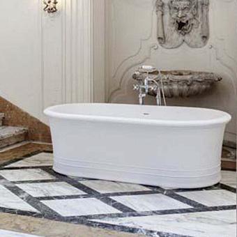 Gentry Home Manhattan Ванна отдельно стоящая 180х90хh60 см с встроенным переливом, из материала Quarzo Stone