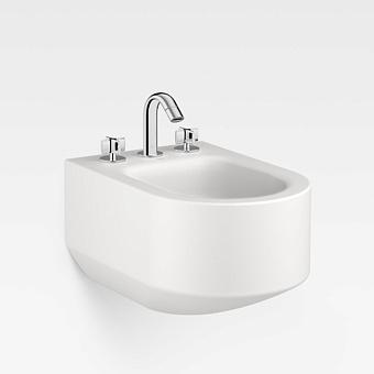 Armani Roca Baia Биде подвесное 56x38x30см с 3 отв. под смеситель, цвет: off-white