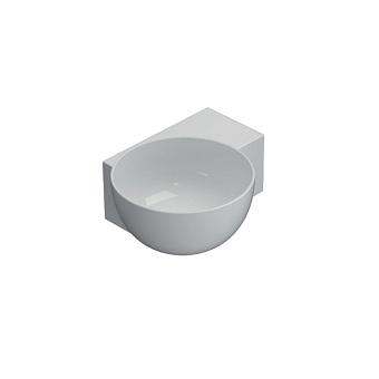 GLOBO T-Edge Раковина подвесная/на столешницу 40х32 см, без отв под смеситель, цвет: белый