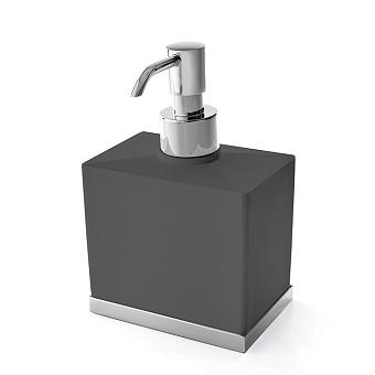 3SC Mood Deluxe Дозатор настольный, композит Solid Surface, цвет: чёрный матовый/хром