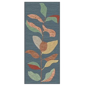 Ornamenta Operae Керамическая плитка 120х278см, настенная, декор: Leaves Blue