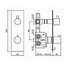 """Zucchetti Pan Встроенный термостатический смеситель для душа, 1/2"""", с запорным клапаном"""