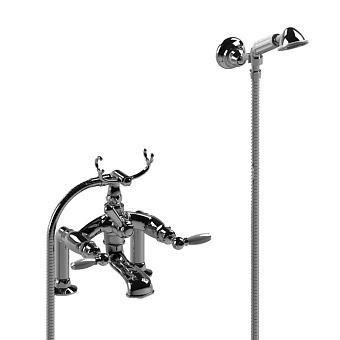 Stella Italica Leve Смеситель на борт ванны на 2 отверстия 3274RG305/6 с ручным душем, цвет: хром