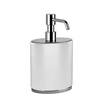 Gessi Ovale Дозатор для мыла настольный, цвет: белый/хром
