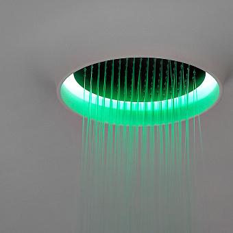 Antonio Lupi Meteo Встраиваемый верхний душ, 62х62см, c LED подсветкой, цвет: нержавеющая сталь/белый