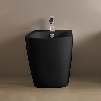 Artceram A16 Биде напольное 52,5х36хh42см, с 1 отв под смеситель, цвет: черный матовый