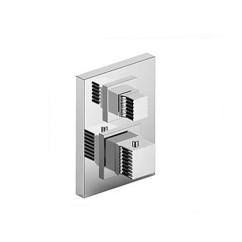 Stella Casanova Встраиваемый термостатический смеситель для душа IS3294 P.V. с переключателем на 2 выхода, цвет: хром