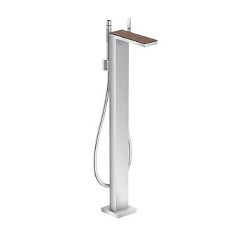 Axor MyEdition Смеситель для ванны, напольный, на 1 отв., излив 245мм, со сливным гарнитуром, цвет: хром/черный орех