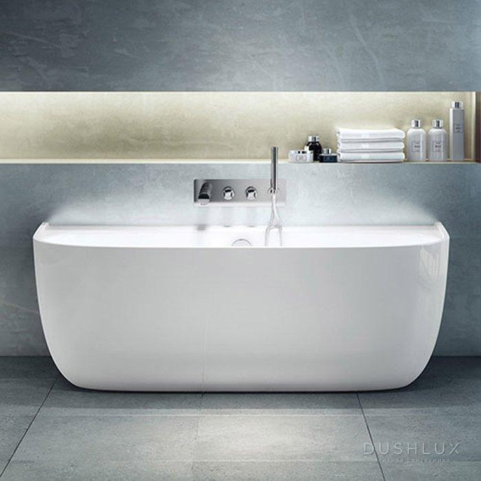 Victoria + Albert Eldon, Ванна без переливного отверстия, 174.9х85х60 см, цвет: белый