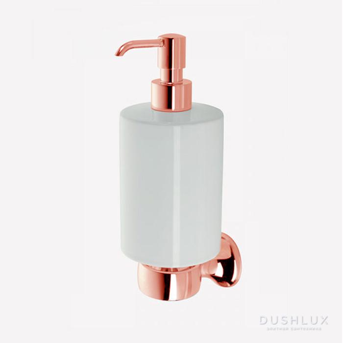 Webert Opera Дозатор для жидкого мыла подвесной, керамика, цвет: розовое золото