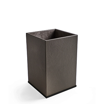 3SC Milano Ведро 20х20хh30см, цвет: коричневая эко-кожа/черный матовый