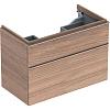 Geberit iCon Тумба с раковиной 89х62х47.7см, с 1 отв., подвесная, с двумя выдвижными ящиками, цвет: натуральный дуб/меламин