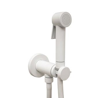 Bossini Paloma Гигиенический душ, с прогрессивный смеситель, лейка с клапаном подачи воды, шланг 125cм, цвет: белый матовый