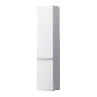 Laufen Case Шкаф подвесной, 35х33.5х165см, с 1 дверцей, DX, 4 стеклянные полки, цвет: белый матовый
