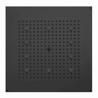 BOSSINI DREAM-CUBE Верхний душ 470 x 470 мм, с 10 LED (белый), блок питания/управления, цвет: черный матовый