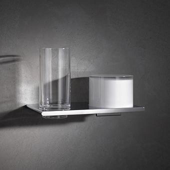 Keuco Edition 400  Двойной держатель со стаканом и дозатором, хром