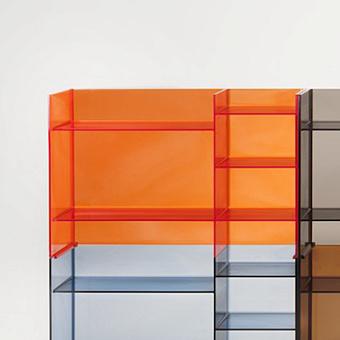 Laufen Kartell Стеллаж, 750х260х530мм, пластик, цвет: оранжевый