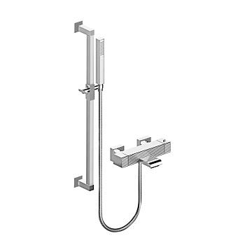Stella Casanova Термостатический смеситель для ванны 3267TM304-6 со штангой и ручным душем, цвет: хром