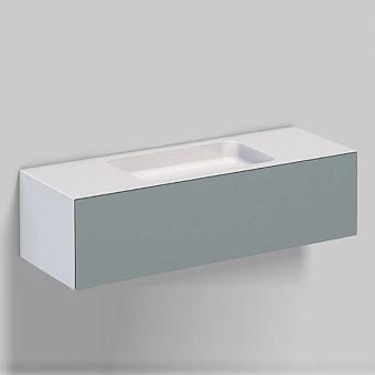Alape WP Тумба с раковиной, 125.4х50х h35см, без отв., подвесная, цвет: белый/ grey fossil