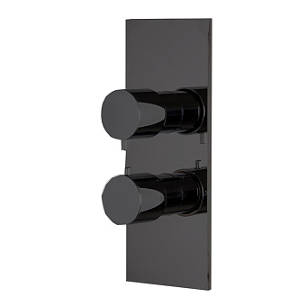 Carlo Frattini Fimatherm Смеситель для душа встроенный, термостатический, с переключателем на 2/3 источника, цвет: черный матовый