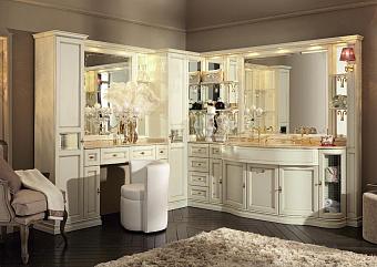 Комплект мебели Eurodesign IL Borgo Plus comp. №38 240/255x59/38xh202 см, столешница категории B Giallo Atlantide с инкрустацией Rosso Verona