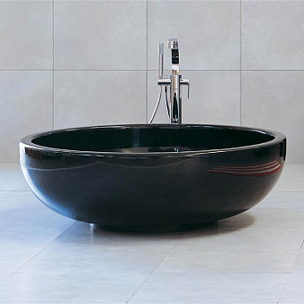 Flaminia Fontana Ванна отдельностоящая  ø135xh44см, материал: Pietraluce, цвет: nero