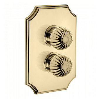Bongio Radiant Смеситель термостатический, 2 отв., цвет: золото