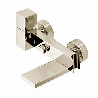 """Bossini Cube Смеситель наружный с девиатором, держатель для душевой лейки  с гибким соединением 1/2"""", цвет: никель шлифованный"""