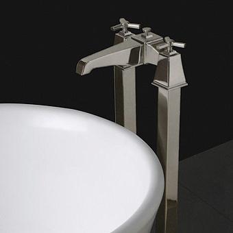 Devon&Devon Time Смеситель для ванны с ножками и лейкой, цвет: никель сатинированный