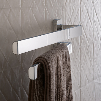 Axor Universal Двойной полотенцедержатель,  наружный размер 409 мм, подвесной монтаж, цвет: хром