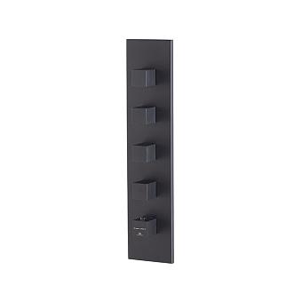 Noken Oxo Смеситель для душа, встраиваемый, с термостатом, на 4 выхода, цвет: черный