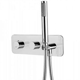 Bossini Oki Термостат высокой пропускной способности с девиатором на 2 выхода, ручной душ ZEN и шланг, цвет: хром