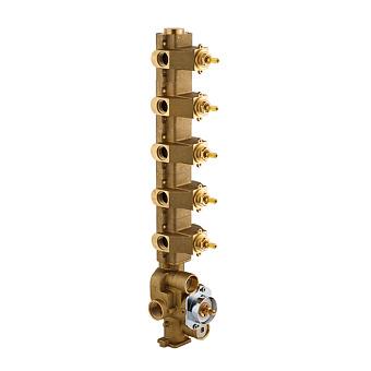 Carimali Встраиваемая часть для термостатического смесителя с 5 независимыми выходами
