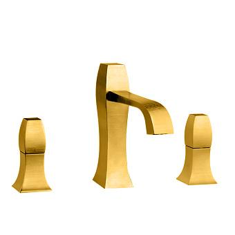 Gessi Mimi Смеситель для раковины на 3 отверстия, с донным клапаном, цвет: золото