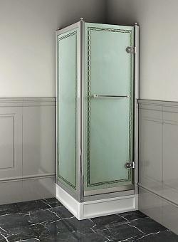 Devon&Devon Savoy Душевое ограждение прямоугольное X70 69*109 см, с декоративными элементами,стекло с декором 2S, цвет: хром