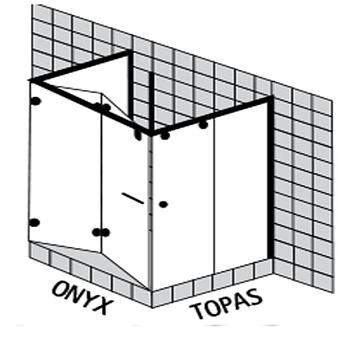 Sprinz Onyx Душевое ограждение 1000x1000x Н:2000мм
