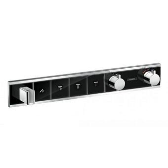 Hansgrohe RainSelect Смеситель для ванны, термостатический, 4 источника, СМ, цвет: черный/белый