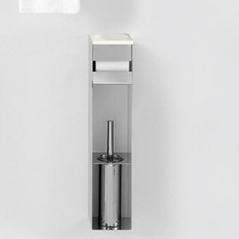 Agape 369 Стойка с туалетным ёрщиком, держателем т/б и мыльницей, цвет: глянец