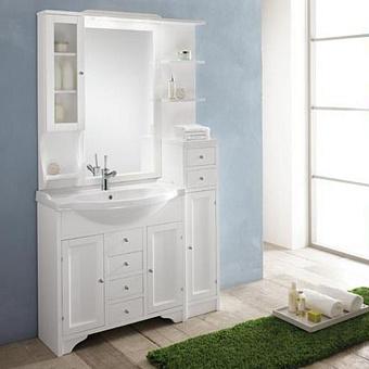 EBAN Eleonora Modular Комплект мебели, (пенал справа), 107см, Цвет: bianco decape
