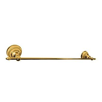 Nicolazzi Impero Полотецедержатель одинарный 54 см, подвесной, цвет: золото 24к