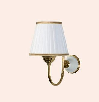 TW Harmony 029, настенная лампа светильника с основанием, цвет: белый/золото , абажур на выбор