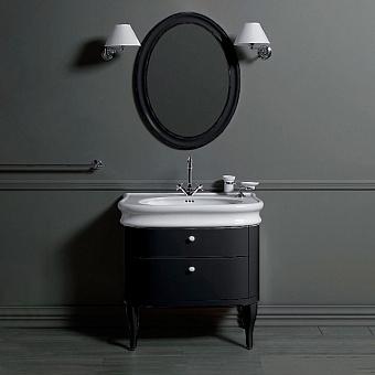 SIMAS Lante Комплект мебели, Тумба с двумя ящиками, раковиной, 90см, Цвет: тумбы nero